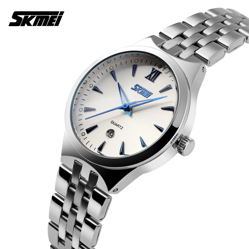 HOT Sell SKMEI Women Fashion Casual Quartz Watch Men Military Wrist Watches Full Steel Sports Watch Waterproof Relogio Masculino<br><br>Aliexpress