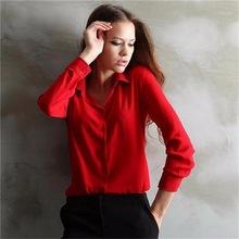 MuLian 5 Colors Fashion Womens Blouse Chiffon Blouse OL Long Sleeve Work Wear Elegant Ladies Formal Office Women Shirt 2016