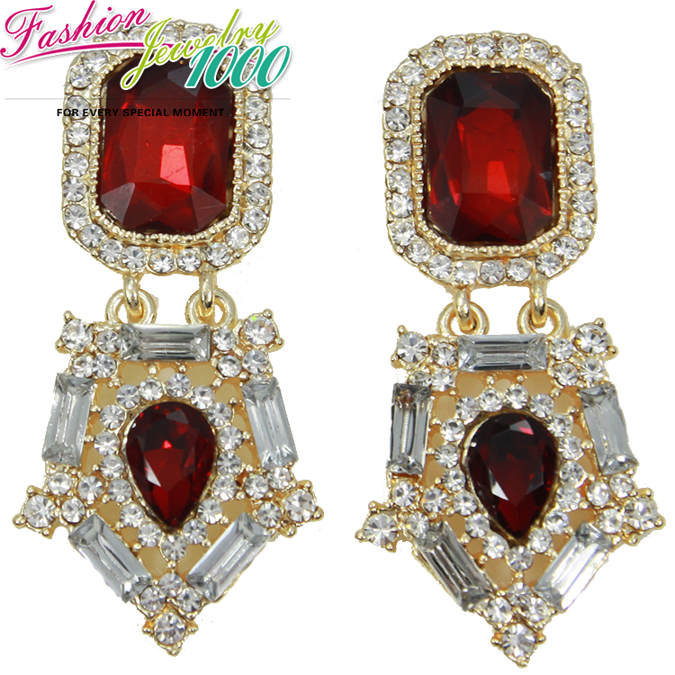 Buy new cute vintage brand rectangle for Costume jewelry for evening gowns