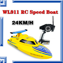 Free Shipping Remote Control Toys Wltoys WL911 RC Boat 4CH 2.4G High Speed 24km/h Racing RC RTF Boat Waterproof