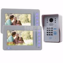 DIYKIT Video Door Phone Door Bell Intercom System RFID Password Camera With Keypad 4CH CCTV Input 1 Camera 2 Monitor