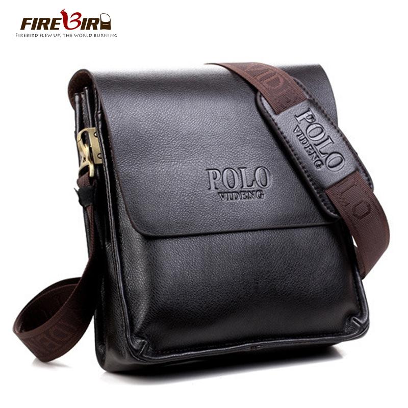 Firebird! Polo brand leather man bag designs, new business men leather messenger bag, men's cross-body bags FB2061(China (Mainland))