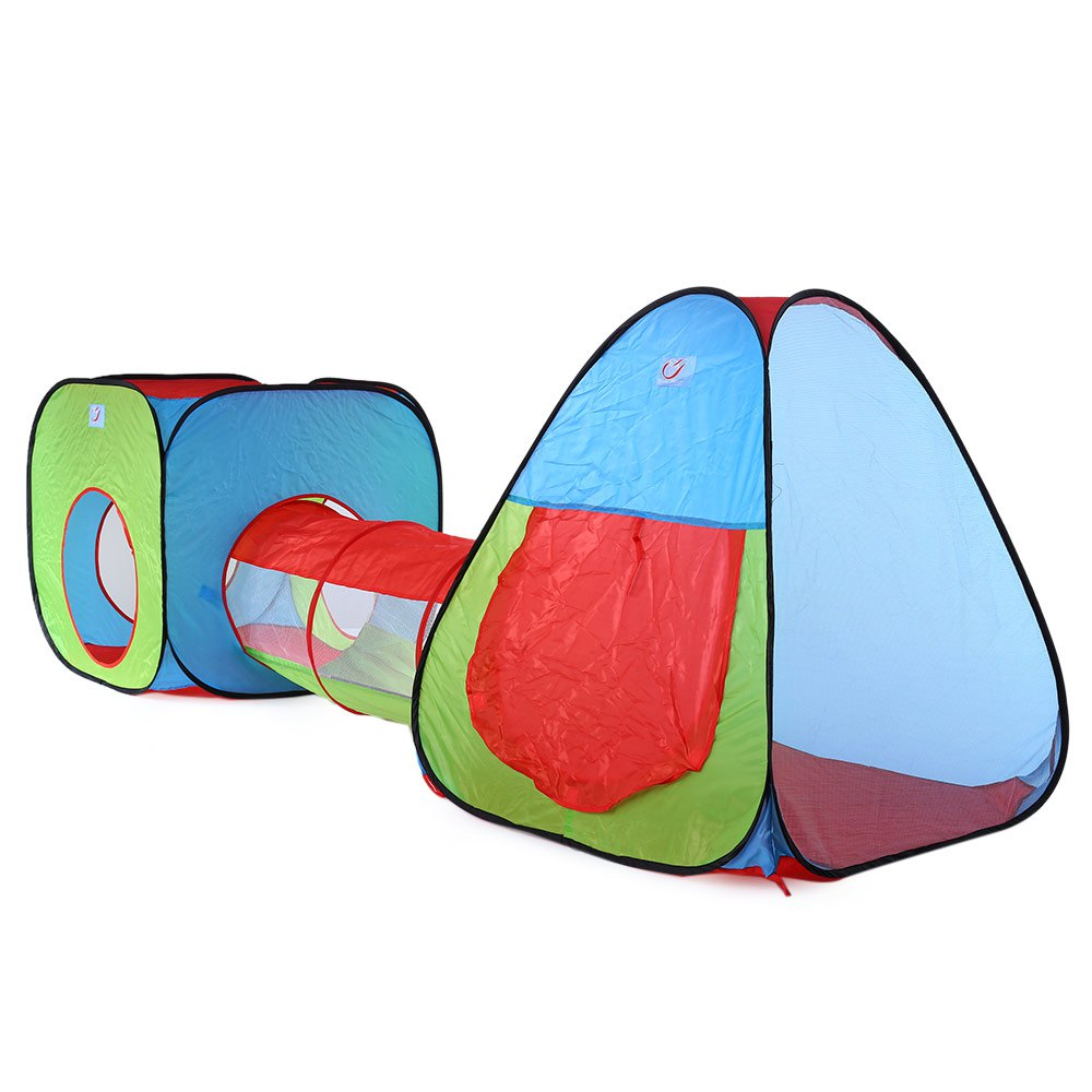 3-in-1 Colorful Baby Game Room Play Tent Set Portable Foldable Tunnel Tent Children Kids Cubby Play House Hut Gameing Tents Gift(China (Mainland))