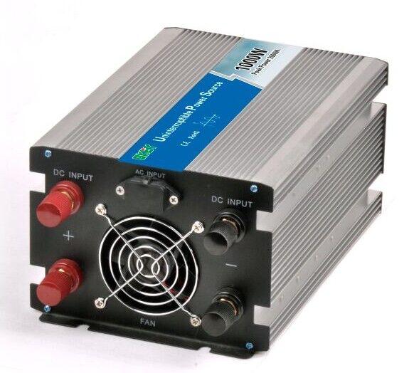 CE RoHS off grid 1000w pure sine wave inverter 12v 220v solar charger inverter ups function inverter for power suddenly off(China (Mainland))