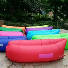10000pcs/lot Factory wholesale Inflatable laybag hangout Air Sleep Camping Bed lazy Beach Sofa Lounge Sleeping bag Kairs(China (Mainland))