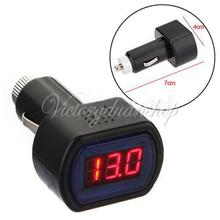 Free Shipping Mini DC 12V 24V Car Digital LCD Engine Battery Voltage Electric Meter Monitor Indicator Tester Voltmeter Black