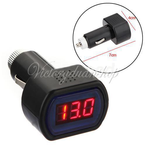 Free Shipping DC 12V 24V Car Digital LED Engine Battery Voltage Electric Volt Meter Monitor Indicator Tester Voltmeter Wholesale(China (Mainland))
