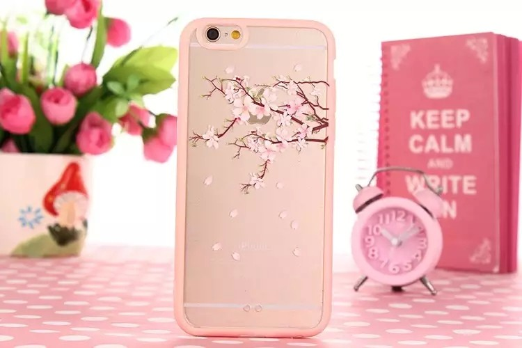Cheap Coque For iPhone5 Cute Lovely Girl Pink Flower Tree Cat Bunny TPU + PC Back Cover Case For iPhone 5 5s 5SE Clear Capinha