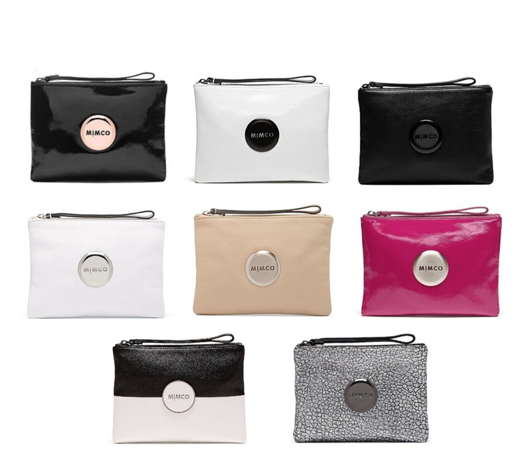 Fashion clutches mimco wallet women wallet ladies handbags bags for women leather handbags mimco pouch purse(China (Mainland))