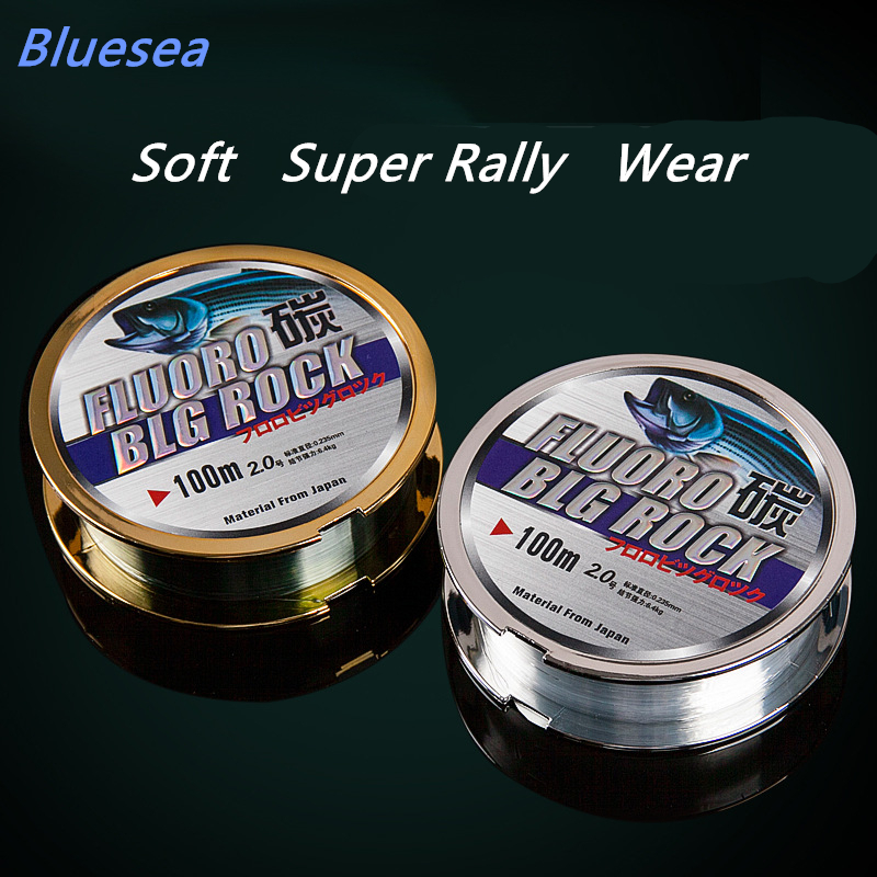 Bluesea free shipping 2016 hot sale strand of Japan sea rod line and rocky road line carbon line 100 meters(China (Mainland))