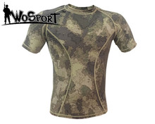 Buy Military Camouflage T-shirt Tactical Quick Dry Combat Tight Elastic Tee Men's Short Sleeve T-shirt Quick Dry A-tacs for $14.44 in AliExpress store