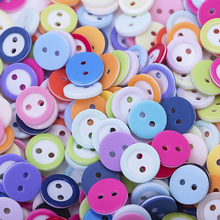 Buy New 2 Holes 100pcs Round Colorful Button 11x11 mm Plastic Buttons Sewing Garment Supplies Accessory for $1.13 in AliExpress store