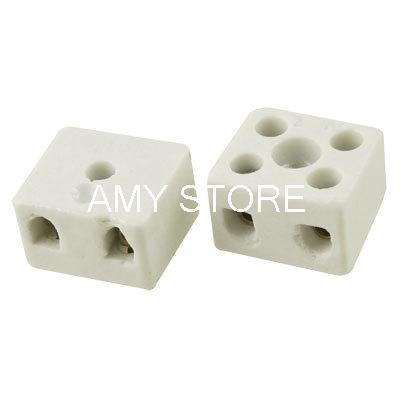 16A 2 Position Porcelain Terminal Strip Block Connector(China (Mainland))