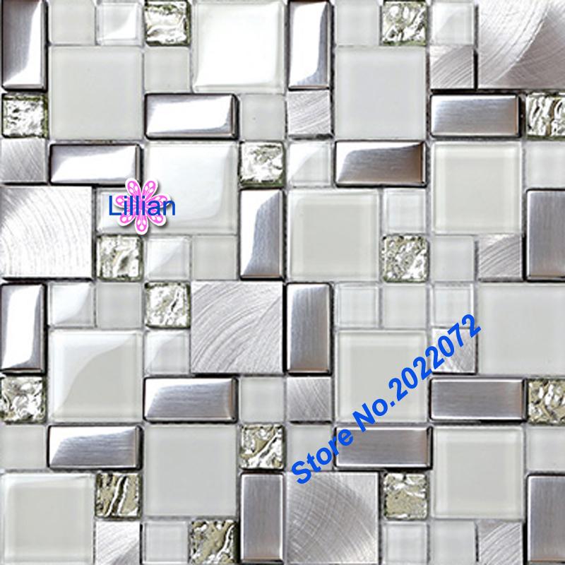 Online kopen wholesale metallic bathroom tiles uit china metallic bathroom tiles groothandel - Deco douche tegel ...