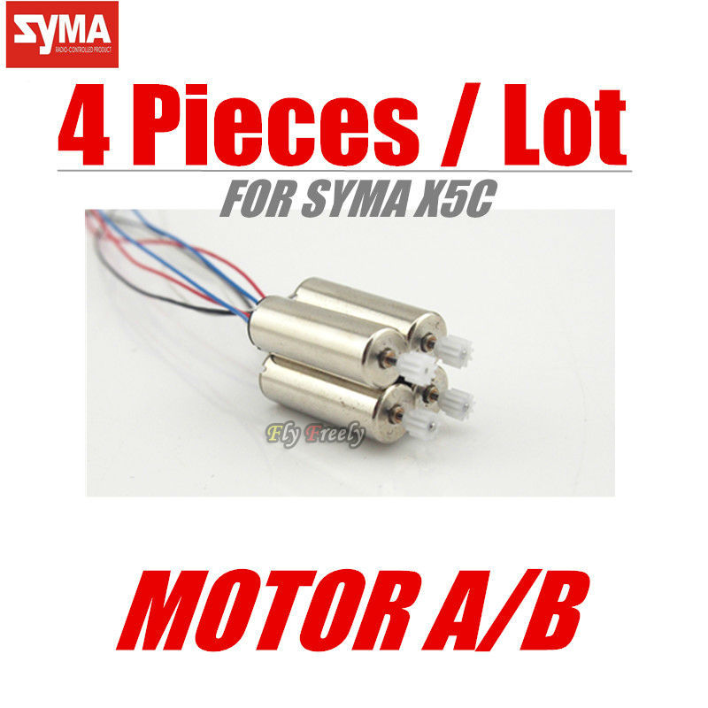 SYMA X5C/X5 Spare Part Motor Engine B Motors Wheel Gear RC Quadcopter Helicopter Drone Accessories Parts - Shantou Fly Freely Industry Co.,Ltd. store