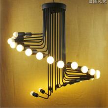 hot sales American style black iron chandelier vintage lamp Dia80*H88cm pendant home lighting(China (Mainland))