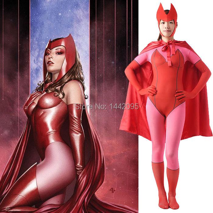 X-Men Scarlet Witch Zentai Suit Halloween Costume Women Lycra Spandex Carnival Costume High Quality Catsuit Fantasia InfantilОдежда и ак�е��уары<br><br><br>Aliexpress