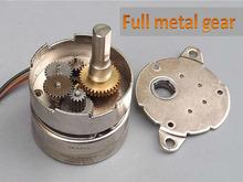 Полностью металлический редуктор шага 35 фаза 2 и 4 0.5 А 7 кг 1:30