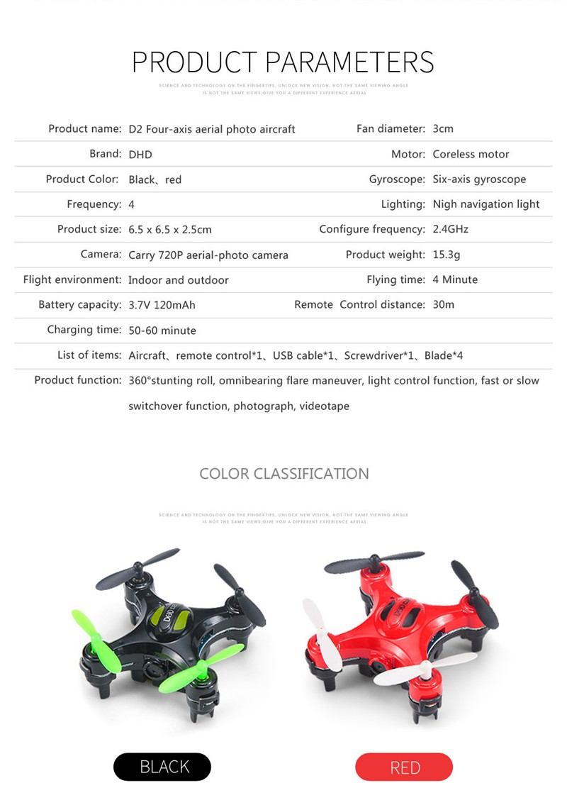 Mini Drone Quadrocopter Dhd D2 Pocket With Camera 2008 Mazda 5 Fuse Box Assembly The Customized Controller Is A Storage For Can Carry Spare Parts Recharge Package Included 1 X Quadcopter
