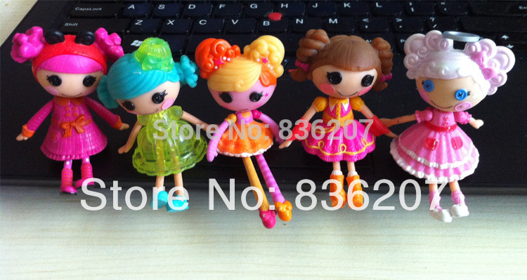 1pc 3inch MGA Lalaloopsy dolls with 4 small doll accessories Mini Dolls For Girl's Toy PlayHouse Each Unique(China (Mainland))