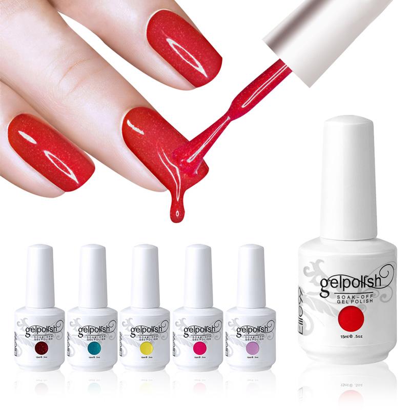Elite99 Hot Selling UV Nail Gel Polish Long Lasting Glaze UV Gel Nail Polish Pure Colour 1 Pcs In 298 Colors 15ml 0.5oz(China (Mainland))
