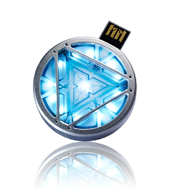 Fashion MARVEL Avenger Iron man ARC Reactor Shining Model Usb flash drive Memory Flash stick pen (retail packings) QNJ011 - Smile Digital Technology Co., Ltd. store