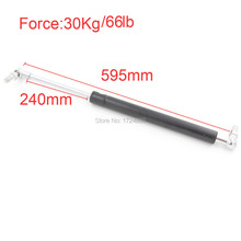 30KG/66lb Force Auto Gas Spring Damper 204mm Long Stroke Hood Lift Support Auto Gas Spring 595mm Automative Hardware Tools