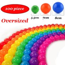 100 pz/lotto oversize ecologico colorato in plastica morbida water pool ocean wave sfera del bambino giocattoli divertenti outdoor fun sports(China (Mainland))