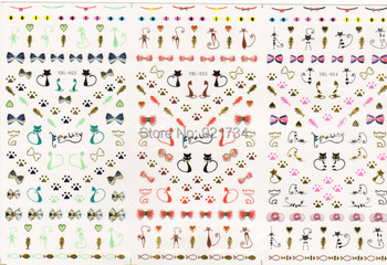 see detail please Export YBL22-23-24 2015 NEWEST 3 pieces Popular water nail art stickers decal popular in japan