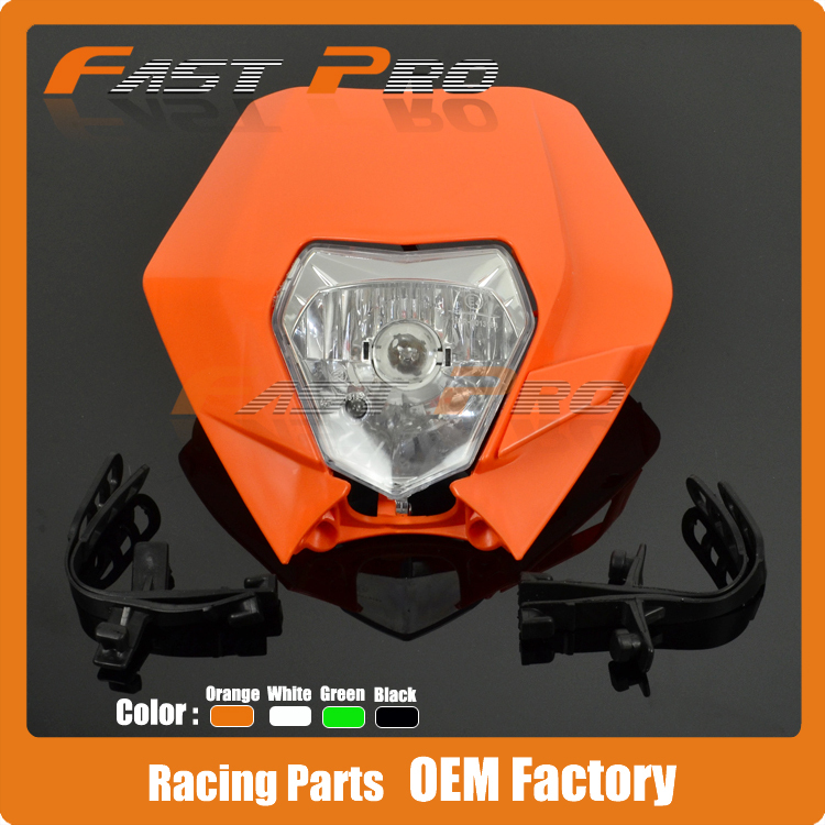 Orange Universal Headlights Headlamp StreetFighter For Motorcycle Dirt Bike Motocross Supermoto KTM SX EXC XCF SXF SMR SMR DUKE(China (Mainland))
