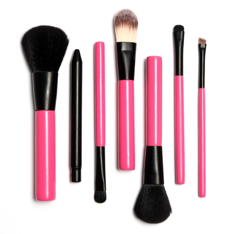 2015 Hot Professional Goat Hair 7Pcs Makeup Brush Set Tools Cosmetic Make Up Brush Set(China (Mainland))