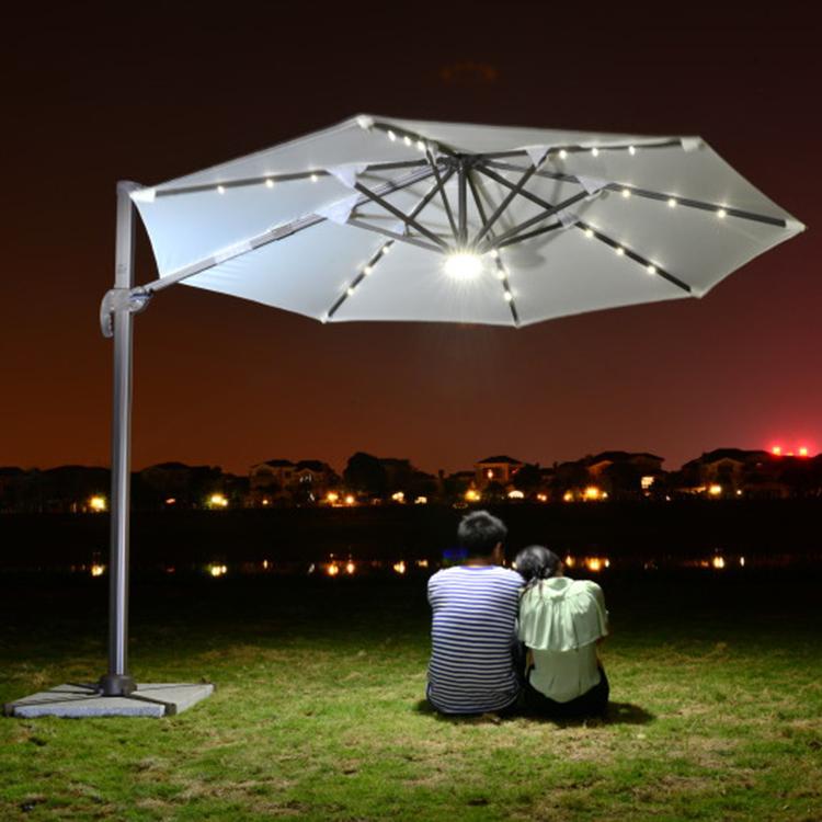Solar outdoor umbrellas shade d 360 degree rotation roman courtyard garden umbrella 3 meters - House and garden onsquare meters ...