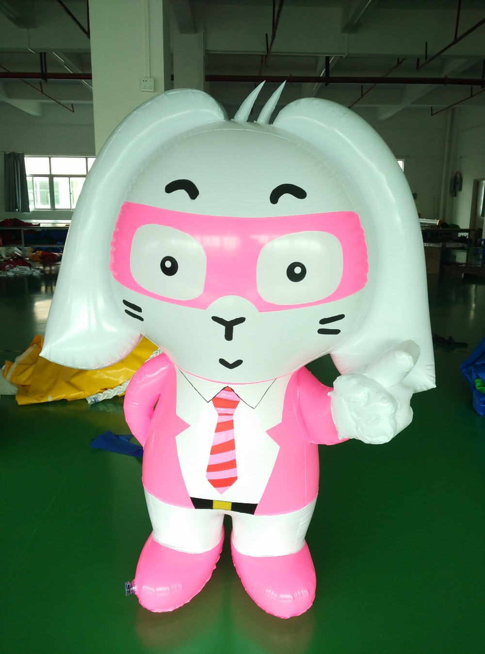 Free Shipping 1.5m air sealed advertising inflatable pvc rabbit cartoon for event(China (Mainland))