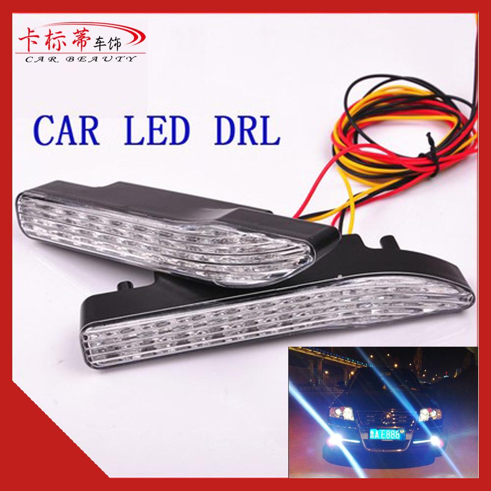 New 2014 2Pcs/Set 18 LED Auto Super Bright High Power White DRL Car Fog/Daytime Running Lamp DC8-30V Factory Direct LA-528<br><br>Aliexpress