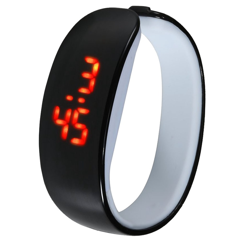 NEW Sports Mens Womens watch Dolphin Shape Digital LED Watch Silicone Rubber Bracelet Watch