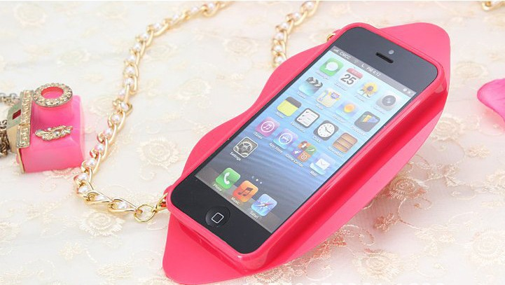 Sexy Red phone case 4.7 5.5 Inch for iphone 6 6 plus Distinct Sexy Red Lip shape Girls Gift Silicon Cover Cases Cheap Back Cover