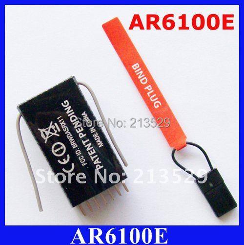 10pcs/lot AR6100E 2.4G 6ch RC Receiver , Support DSX7/DSX9/DSX11/DSX12 DX6i/DX7/DX8