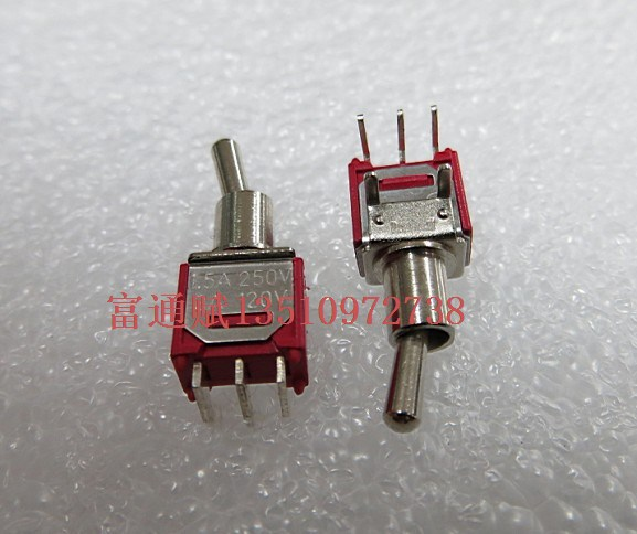 [ BELLA]Shaking his head at the beginning of the spot kink switch pull switch 2 files Clubfoot toggle switch 1.5A250V 3A 120V--5(China (Mainland))
