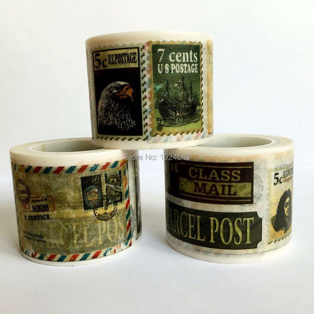 Beautiful  30mm*5m  high quality  washi paper  tape/Vintage varied stamps  masking  japan  washi tape