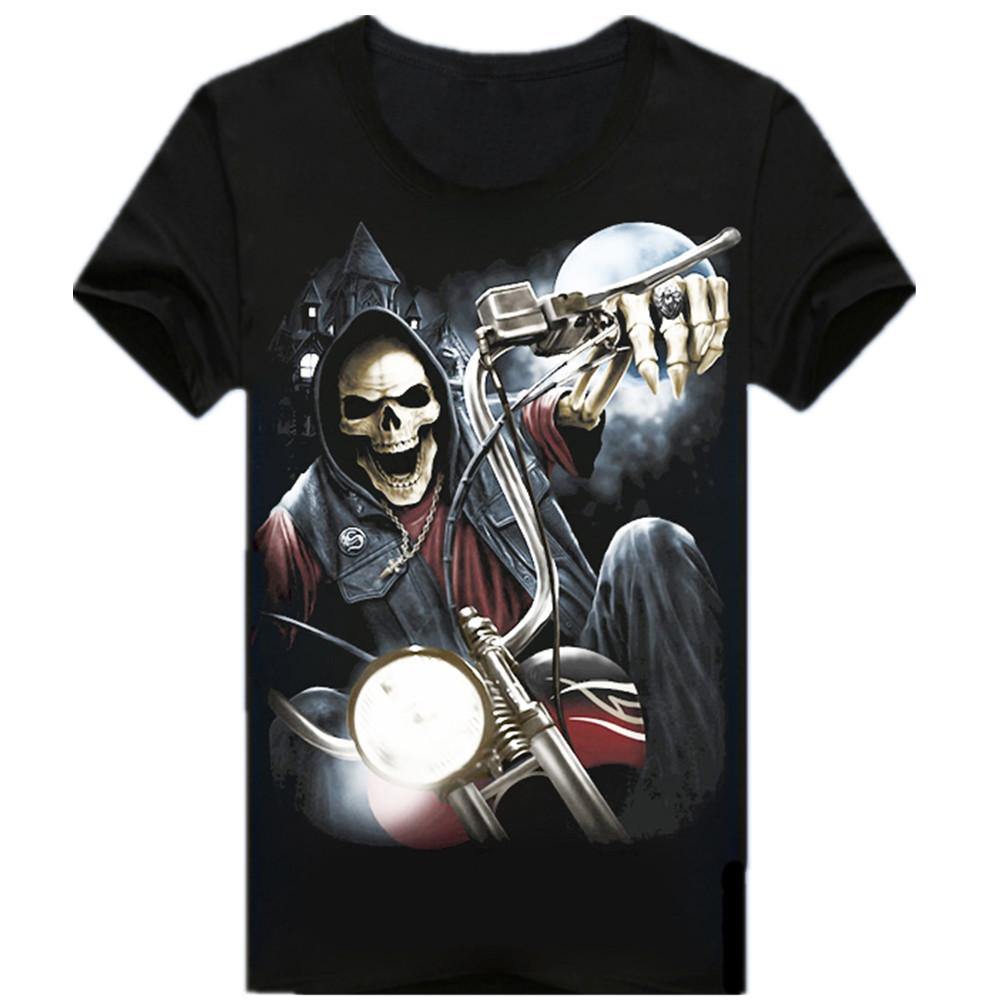 2016 New Mens Short Sleeve 3d T Shirt Man Cotton O Neck T