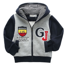 2-5Years Children Clothing 2015 Hot New Spring Autumn Hoodies For Boys Hooded Zipper Sweatshirt Baby Boy Jacket Outerwear Coat(China (Mainland))