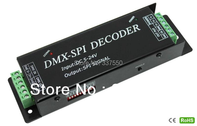 DC5V-24V SPI signal (DATA, CLK) Output,6803,1803,1809,1812,1903,2811,2801,3001,3008,9813 IC RGB led controller,DMX- SPI Decorder<br><br>Aliexpress