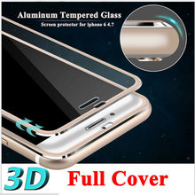 """Clear Front Screen Protector for iPhone 6 Tempered Glass Full Cover 4.7"""" 3D Curved Edge Titanium Protective Film Full Coverage(China (Mainland))"""