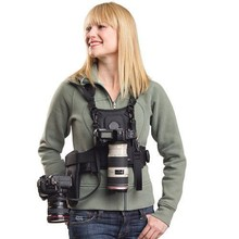 MICNOVA Belt buckle Carrier II Multi Camera Carrier Photographer Vest with Dual Side Holster Strap for Canon Nikon Sony Camera