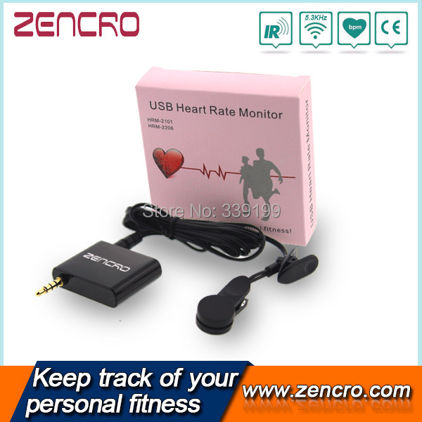 Тонометр Zencro Portable Smartphone Ear Clip Heart Rate Monitor HRM-2105