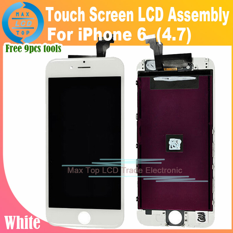 White OEM LCD Display + Touch Screen Digitizer Assembly for iPhone 6 Lcd Screen 6G 4.7