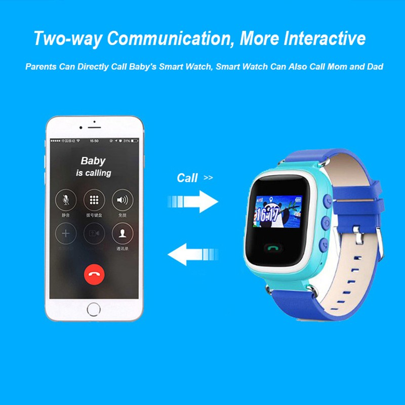 image for 2016 Colorful GPS Q80 Q60 Q50 Smart Watch Wristwatch SOS Call Location