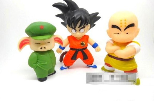Dragon Ball figure set Goku+Kuririn+Oolong dragonball z PVC Action Figure