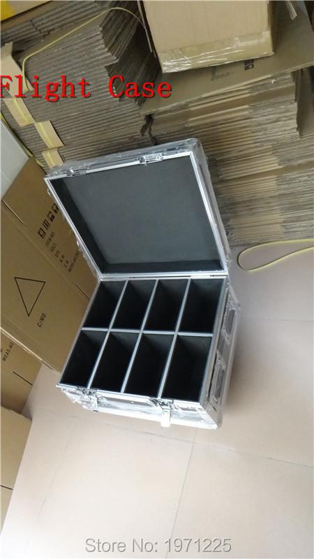 Flight Case 8pcs/lot Fast Shipping American DJ Mega Tri Par Profile Bright Stage LED Wash Light RGB Color Mixing 7x9W<br>