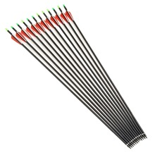 24Pcs lot Replaceable 30 inch Long Archery Carbon Arrow 500 spine Hunting Practice Archery for Long